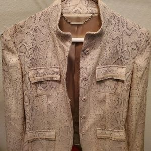 Elie Tahari snake skin jacket. Love this jacket